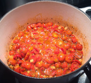 Cooked down tomatoes