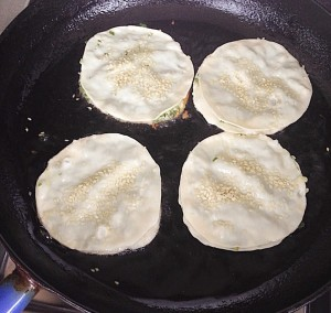 Recipes: Spring onion pancakes