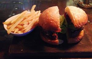 Hamburger with foie gras