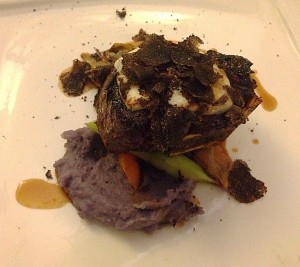 black angus tenderloin with robiola cheese and endives